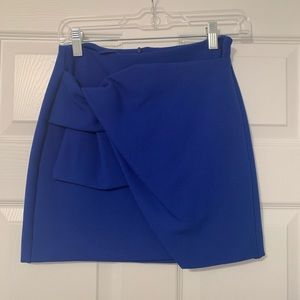 Zara blue mini skirt